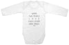 "Funny Adorable Baby Tee Time ""When Two People Love Each Other Very Much..."" Baby Onesie"