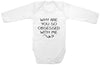 Funny Adorable Baby Tee Time Babies Why Are You So Obsessed With Me Onesie