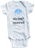 "Funny Adorable Baby Tee Time ""Wild Baby Appeared"" Onesie"
