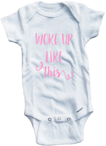 "Adorable Baby Tee Time ""Woke Up Like This"" Baby clothes"