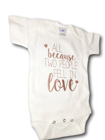 724423ec0 Rose Gold Adorable Baby Tee Time