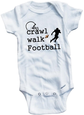 Crawl walk football cute infant clothing funny baby clothes bodysuit one piece romper creeper