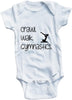 Crawl walk gymnastics cute infant clothing funny baby clothes bodysuit one piece romper creeper