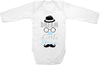 Dream big little man cute infant clothing funny baby clothes bodysuit one piece romper creeper
