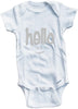 Hello with smiley face cute infant clothing funny baby clothes one piece bodysuit romper creeper