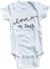 Cursive I love my Daddy cute infant clothing funny baby clothes one piece bodysuit romper creeper