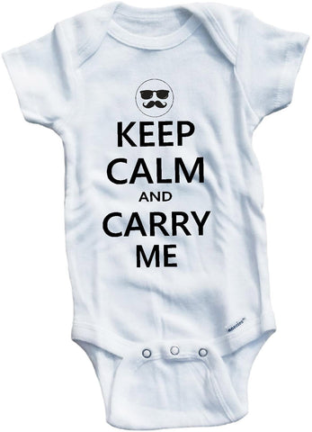 Keep calm and carry me cute infant clothing funny baby clothes bodysuit one piece romper creeper