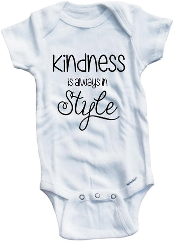 Kindness never goes out of style cute infant clothing funny baby clothes bodysuit one piece romper creeper