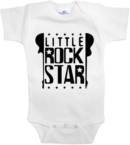 Adorable Baby Tee Time Little rock star popular Baby Onesie