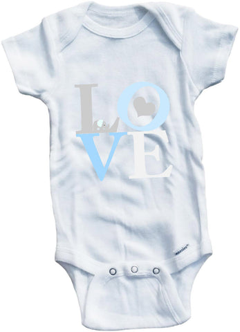Love with elephant cute infant clothing funny baby clothes one piece bodysuit romper creeper