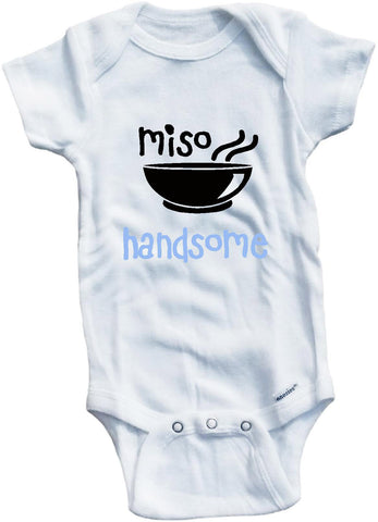 Miso handsome cute infant clothing funny baby clothes bodysuit one piece romper creeper