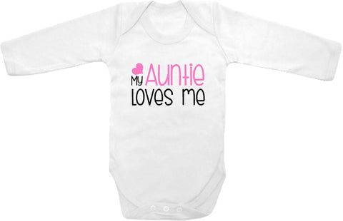 cc57542c1 My Auntie loves me cute infant clothing funny baby clothes bodysuit one  piece romper creeper