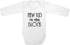 New kid on the block cute infant clothing funny baby clothes bodysuit one piece romper creeper