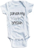 Pardon my nipple breath cute infant clothing funny baby clothes bodysuit one piece romper creeper