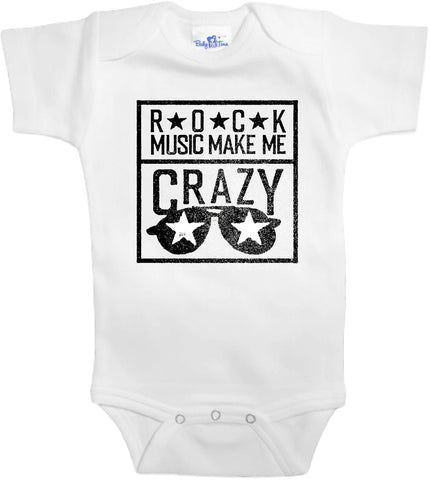 Adorable Baby Tee Time Rock music make me crazy popular Baby Onesie