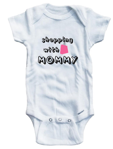 Adorable Baby Tee Time baby girls' Shopping with Mommy Baby clothes