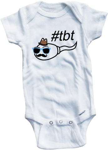 Hashtag TBT Throw back Thursday cute infant clothing funny baby clothes bodysuit one piece romper creeper