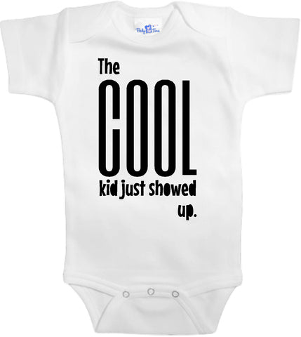 Adorable Baby Tee Time The cool kid just showed up popular Baby Onesie