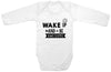 Adorable Baby Tee Time Wake Up And Be Awesome Baby Onesie