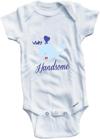 Whaley handsome cute infant clothing funny baby clothes bodysuit one piece romper creeper