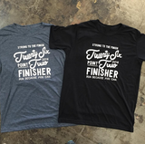 2016 Miles and Pace // Unisex Super Soft Marathon Finisher Tee 26.2