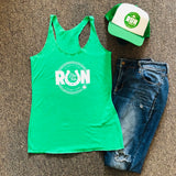 RUN LUCKY Tank // Kelly Green
