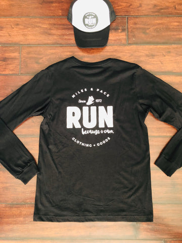 RUN Miles & Pace // Long Sleeve // Unisex