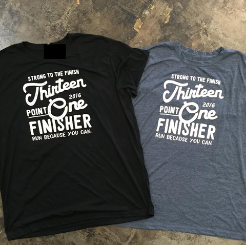 2016 Miles and Pace // Unisex Super Soft Half Marathon Finisher Tee 13.1