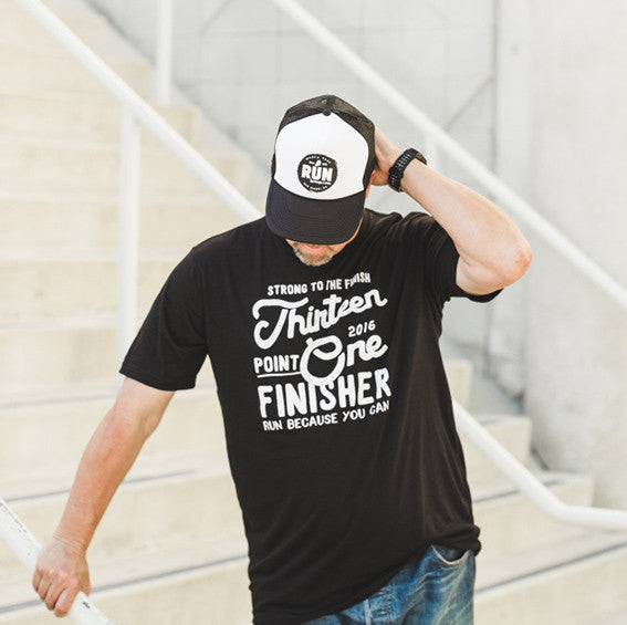 thirteen point one half marathon finisher tee