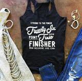 26.2 Marathon Finisher Tee, Miles & Pace, Run Because You Can, Gifts for Runners