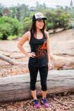 Halloween Run Witches Glitter Tank