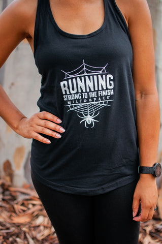 Halloween Spider Run Tank (Glow in the Dark)