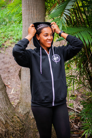 Poly-Cotton Fleece Full Zip Hoodie // Unisex