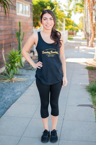 "Sunday ""RUNDAY"" Tank // Gold"