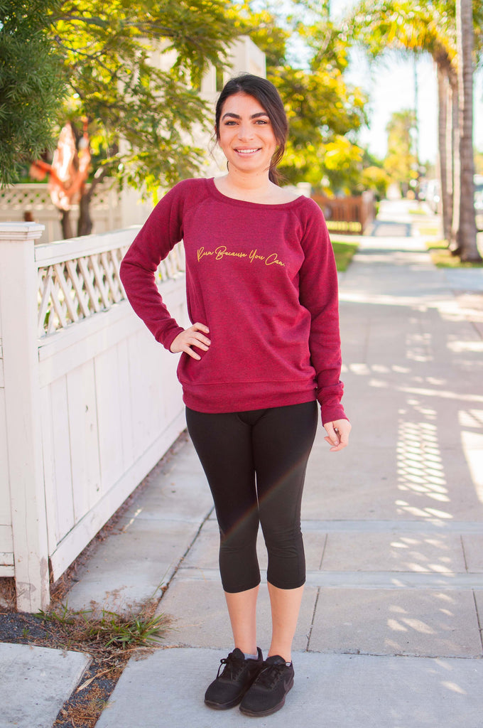Run Because You Can // Sweatshirt // Gold Imprint