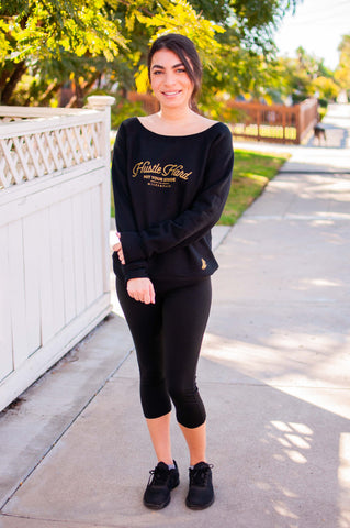 Hustle Hard // Sweatshirt // Gold Print