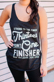 Miles and Pace // Half Marathon Finisher Tank 13.1