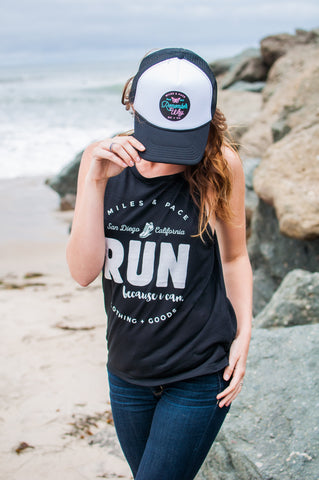 San Diego // Run Because I Can // Muscle Tank