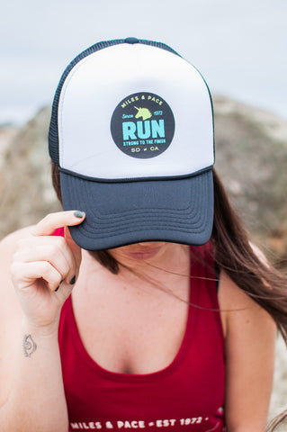 Strong to the Finish - Unicorn Trucker Hat
