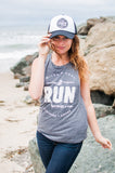 Miles & Pace // Run Because I Can Muscle Tank