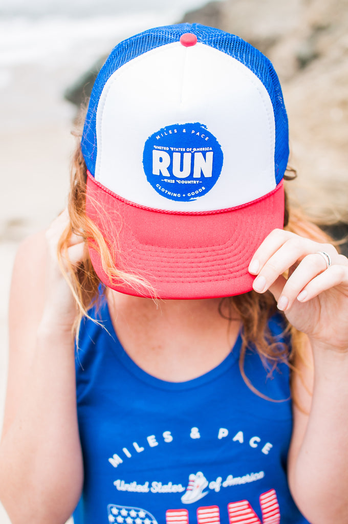 Miles & Pace Run this Country Trucker Hat