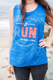 USA Run Because I Can // Muscle Tank
