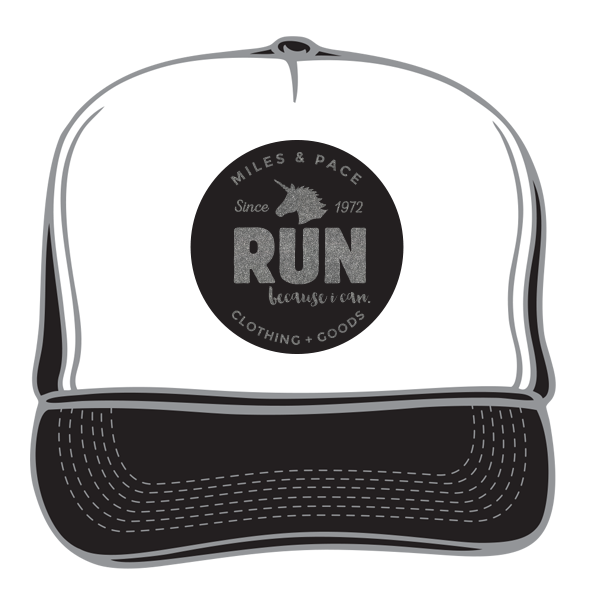 Run Because You Can Unicorn, Run Trucker Hat (multiple colors)