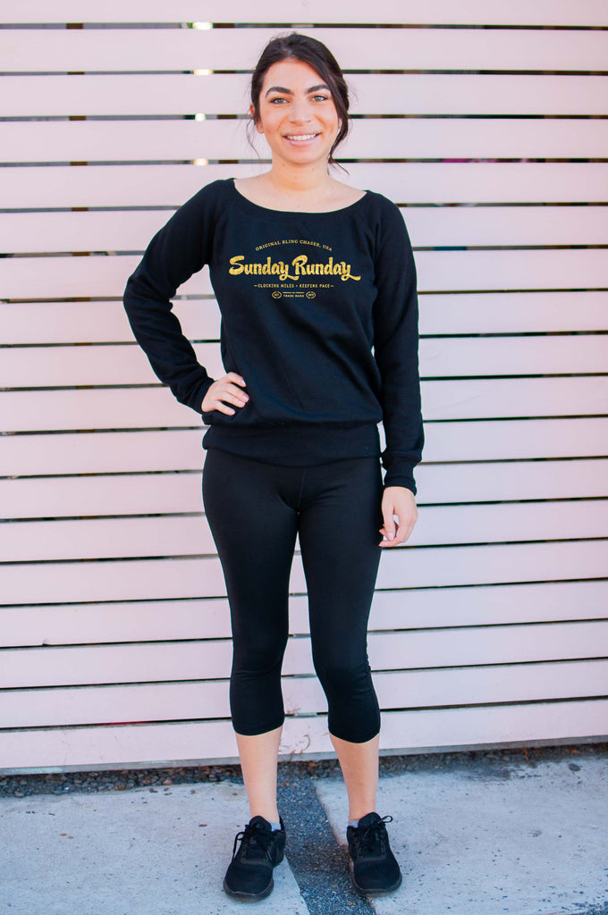 "Sunday ""RUNDAY"" // Sweatshirt // Gold Imprint"