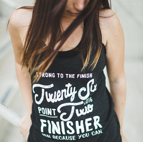 Miles and Pace // 2016 Marathon Finisher Tank 26.2
