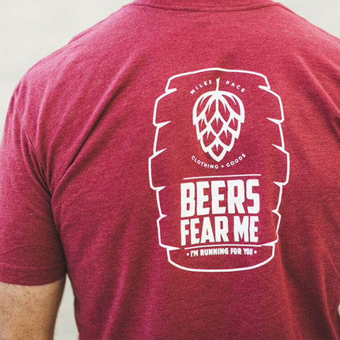 Time for  Beer - Beers Fear Me, I'm Running for You - Cardinal Tee