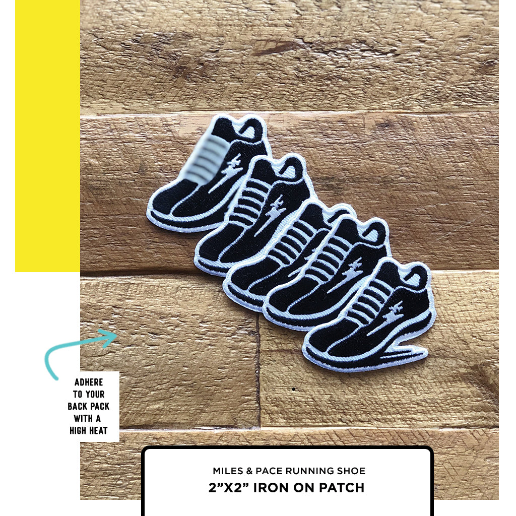 running shoe patch, running gifts, gifts for runners, iron on run patch