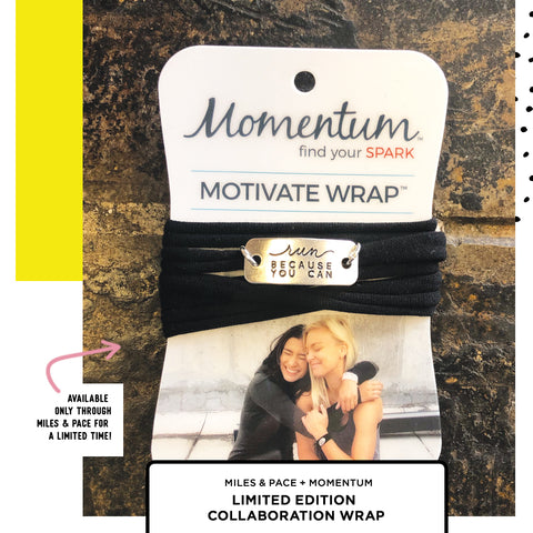 Miles & Pace Motivation Wrist Wraps