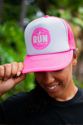 Our Signature Pink and White Trucker Hat