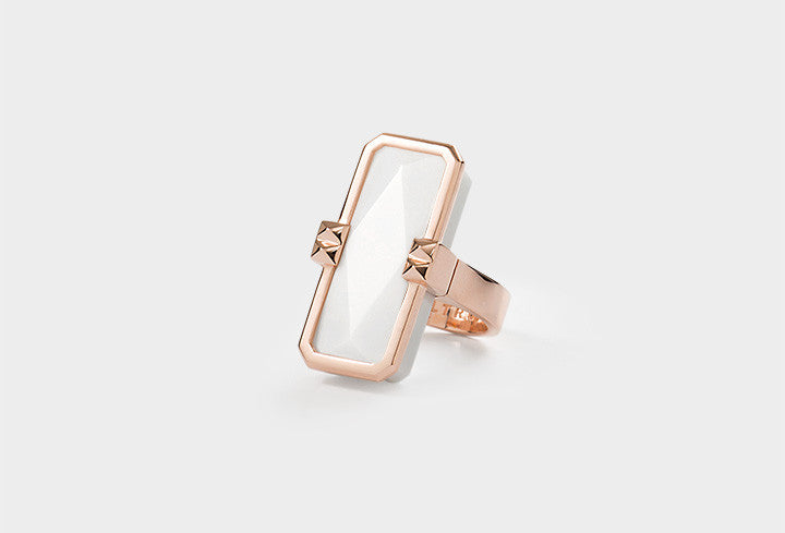 ALTRUIS rose gold & white ring